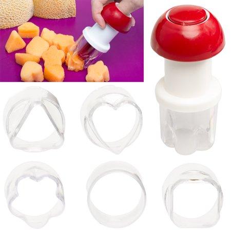 Vegetable Shape (Cobble Creek (7 Piece) Plastic Fruit Cutter Shapes Set Vegetable Cutter for Kids Picnics Parties )
