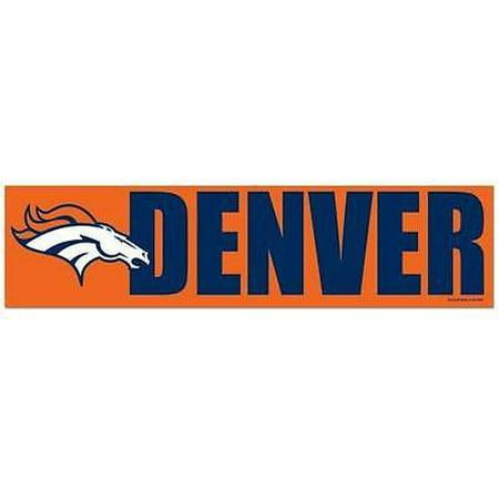 Denver broncos bumper sticker