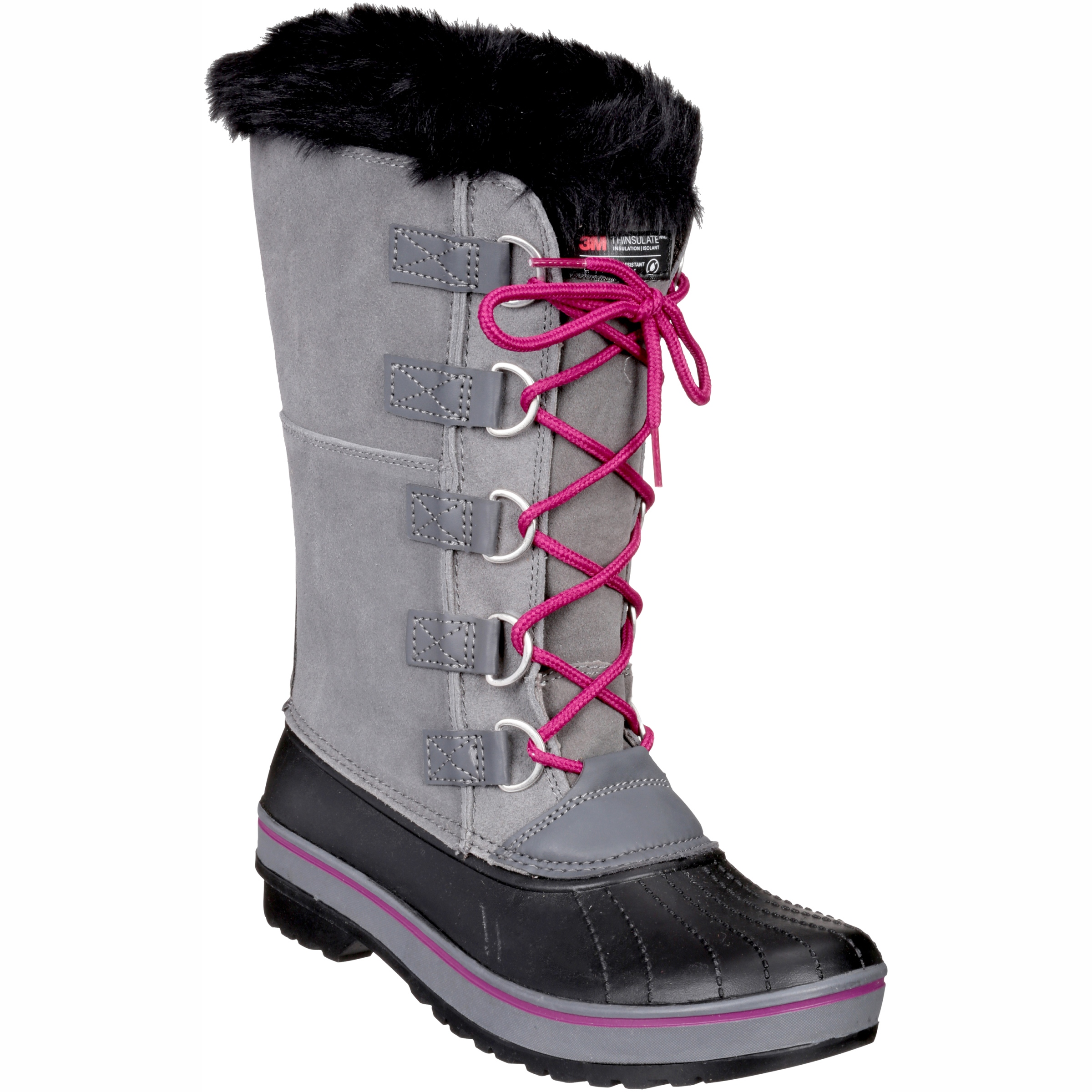 Ozark Trail Women's Tall Lace Up Winter Boot