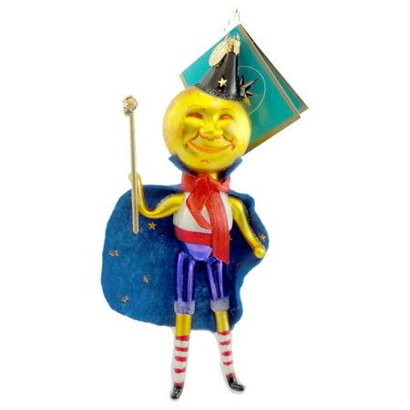 Christopher Radko JACK LA LUNE Blown Glass Ornament Halloween Moon - La Mejor Broma De Halloween