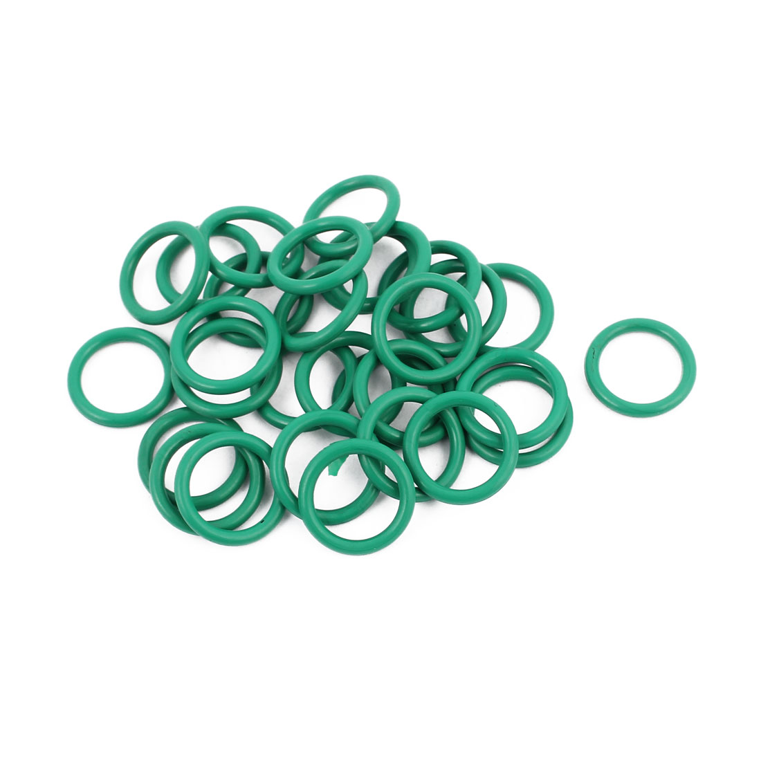 30Pcs 15mm x 1.9mm Rubber O-rings NBR Heat Resistant Sealing Ring Grommets Green