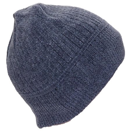 Best Winter Hats Women's Chenille Solid Winter Skull Cap W/Fleece Lining (One Size)(Small) - Dark