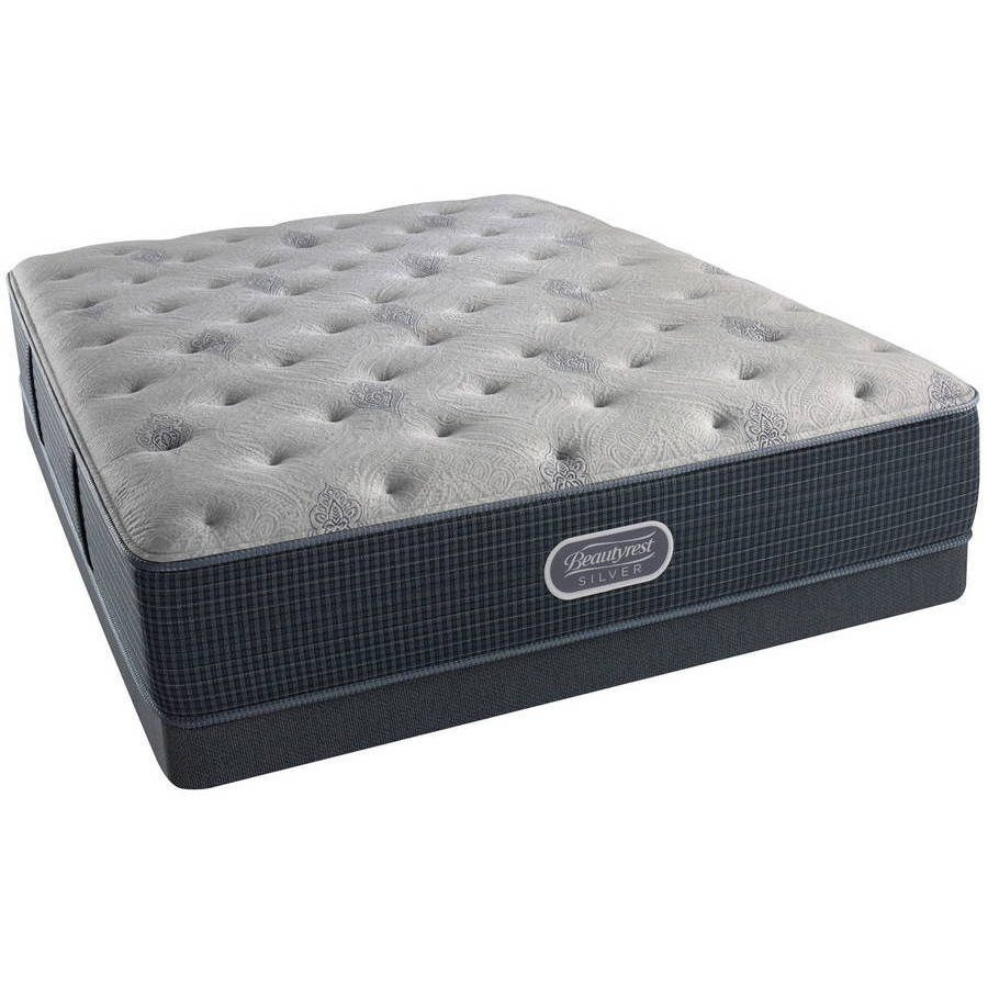 Beautyrest Silver Brewer Plush Low Profile Mattress Set- In Home White-Glove Delivery