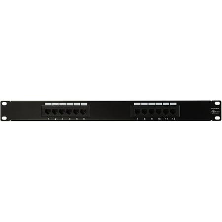 Monoprice 107310 Cat5 Enhanced 110 Type 12 Port 568a B Compatible Patch Panel Walmart Canada