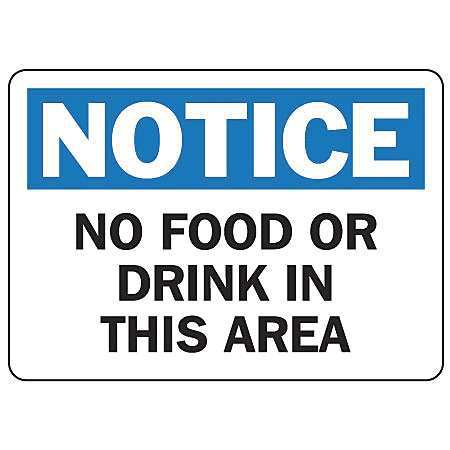 ACCUFORM SIGNS MHSK801VA Notice Sign, 7 x 10In, BL and BK/WHT, AL