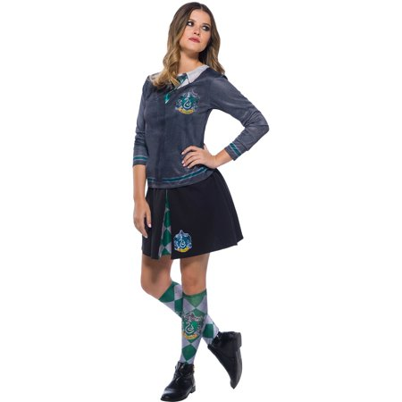 Harry Potter Slytherin Costume (The Wizarding World Of Harry Potter Womens Slytherin Skirt Halloween)