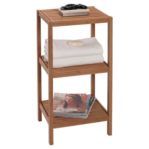 creative bath bamboo tower 14'' w x 28.5'' h bathroom shelf