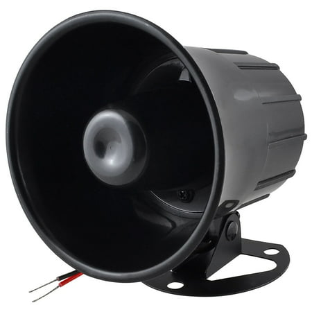 Unique Bargains Black Loud Universal Car Security Alarm Siren Horn DC 12V - Novelty Car Horns