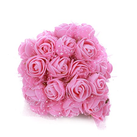 Foam Flowers -144pcs Colourfast Foam Artificial Rose Flowers Wedding Bride Bouquet Party Decor Valentine's Day Decoration(Mini -