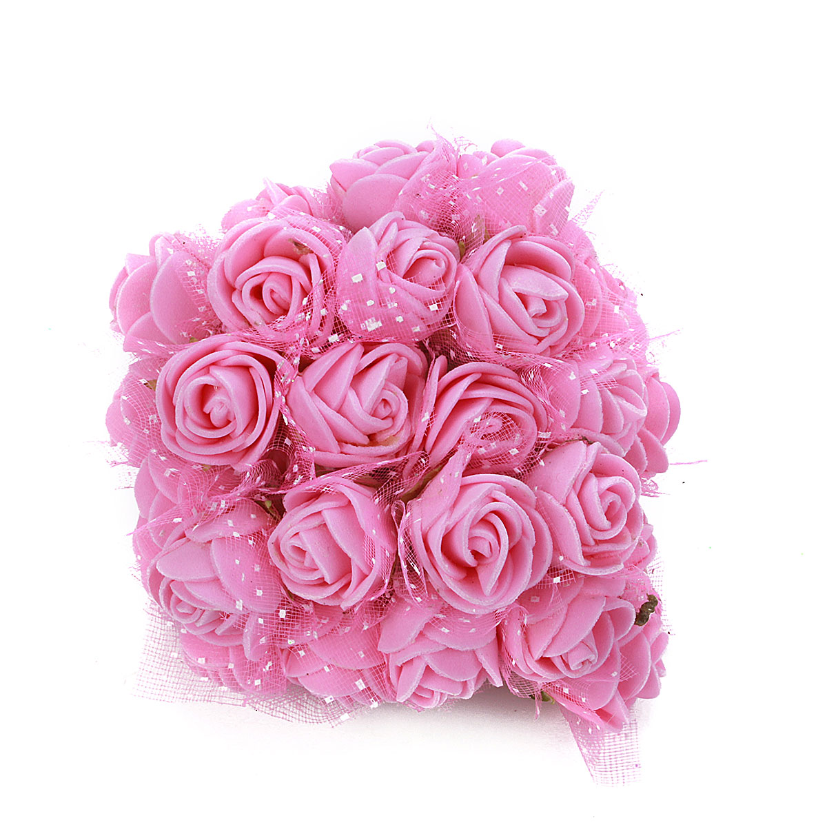 Foam Flowers -144pcs Colourfast Foam Artificial Rose Flowers Wedding Bride Bouquet Party Decor Valentine's Day Decoration(Mini Size)