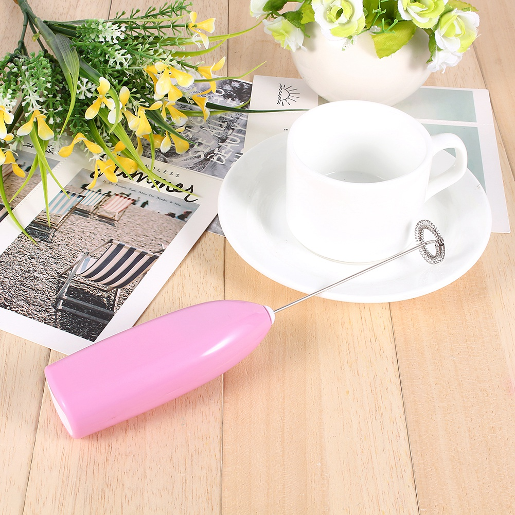 Yosoo 4 Colors Fashionable Hot Drinks Milk Coffee Frother Eggbeater Foamer Electric Mixer Stirrer - image 3 of 10