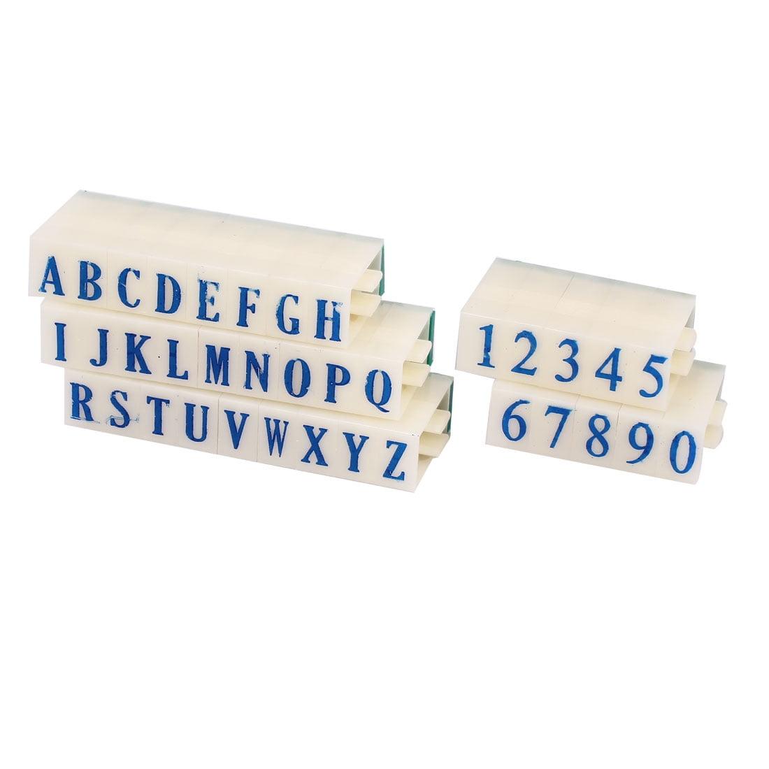 Unique Bargains Office Detachable Letters 26 Alphabet 0-9 Digits Arabic Numerals Stamp Set