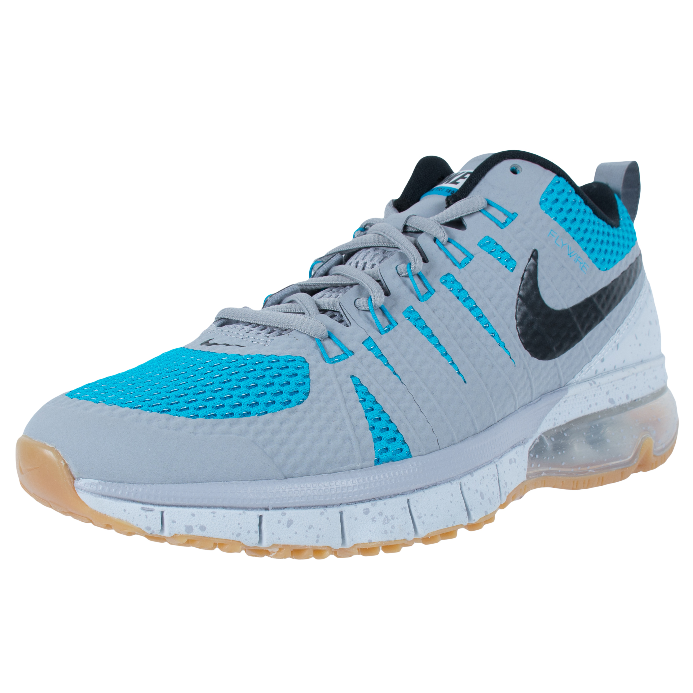 Nike AIR MAX TR180 CROSS TRAINERS WOLF GREY BLACK BLUE LE...