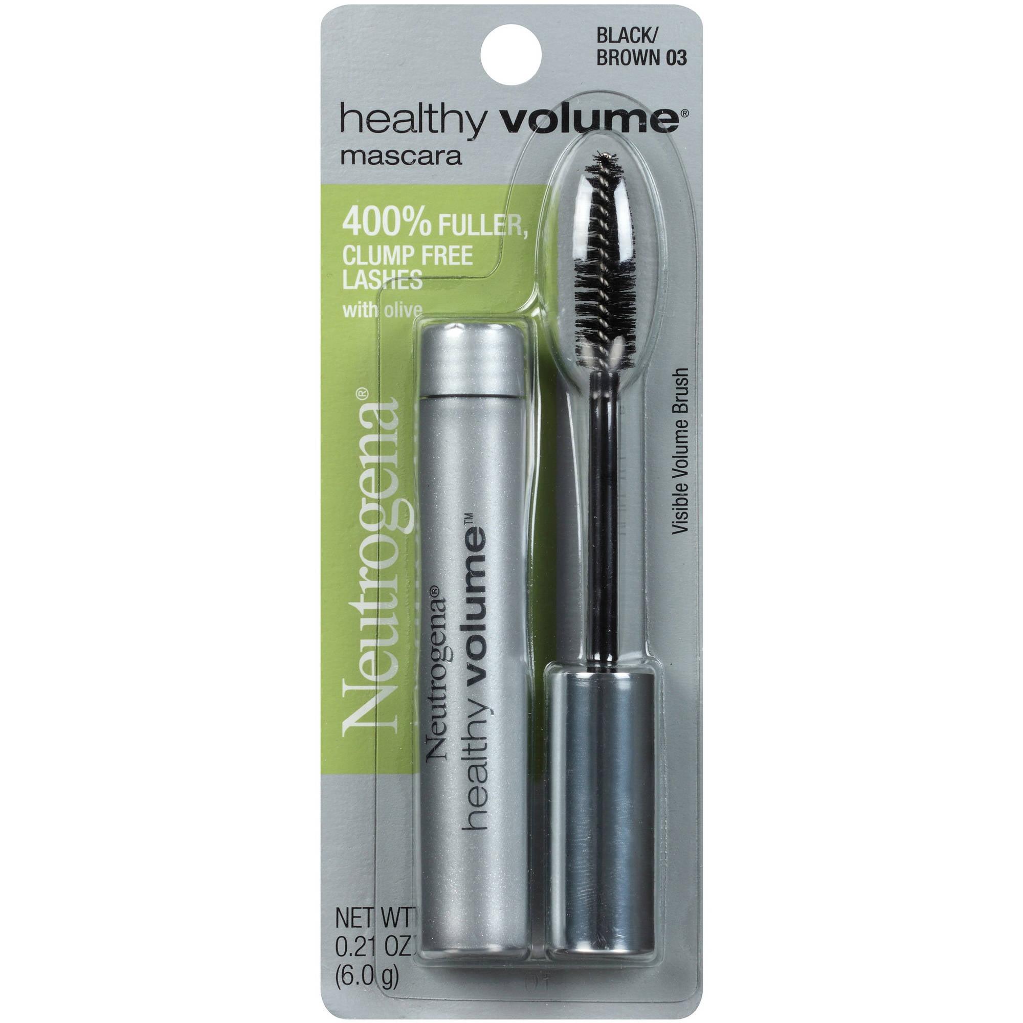 Neutrogena Healthy Volume Mascara, Black/Brown 03, 0.21 oz
