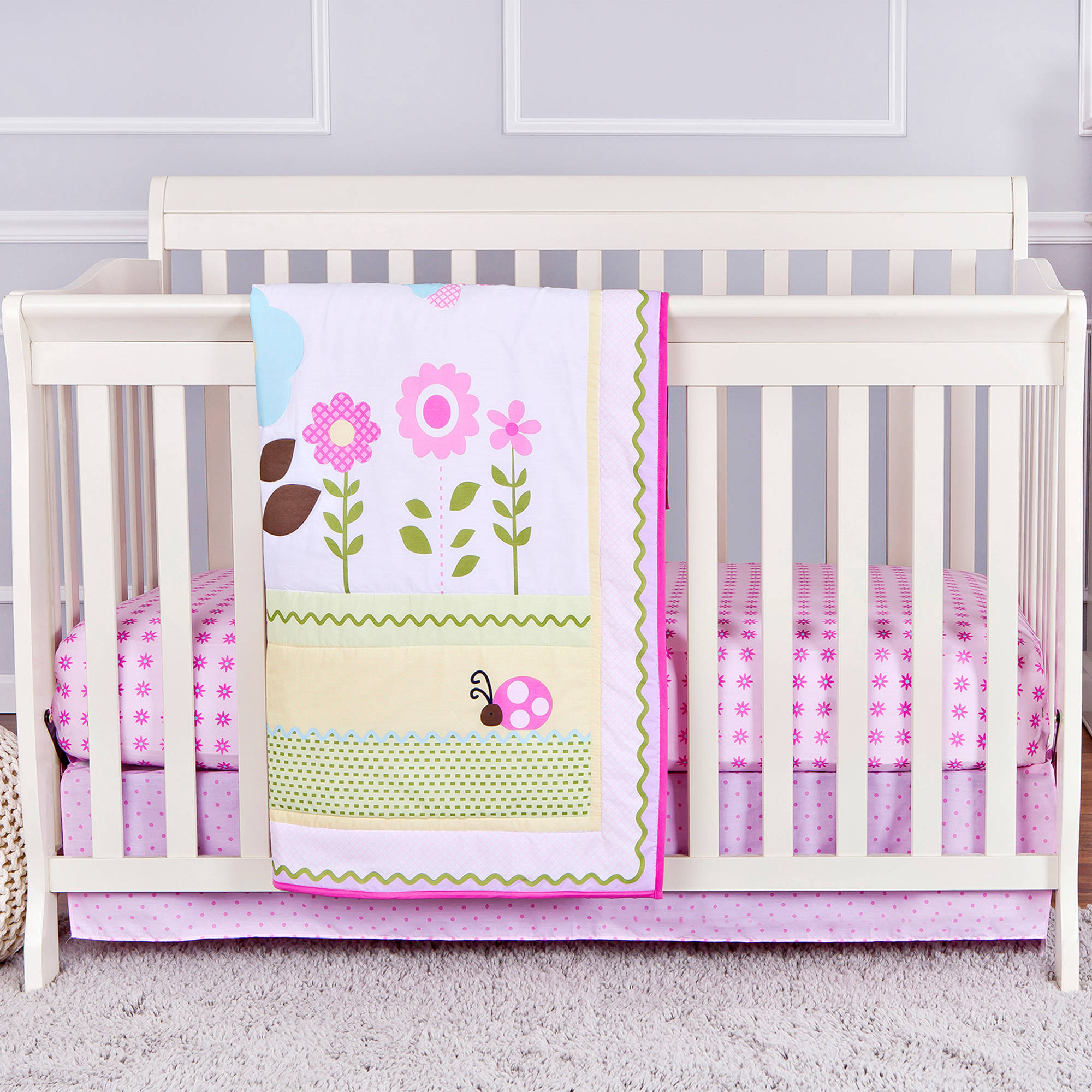 Dream On Me Baby Owl 2-Piece Reversible Full-Size Crib Bedding Set