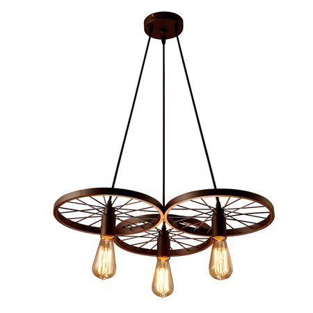 3 Arm Ceiling Light (Lixada 3 Arms E27 Hanging Ceiling Pendant Light Industrial Country Style Chandelier Restaurant Bar Cafe Lighting)