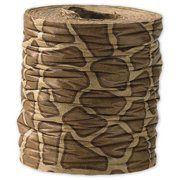 Deluxe Small Business Sales 9025-GF 1.5 in. x 25 yds. Crinkle Paper Giraffe Ribbon, Brown