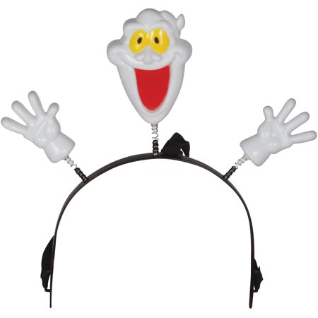 Loftus Child Halloween Flashing Ghost Headband Boppers, White, One Size (4.5