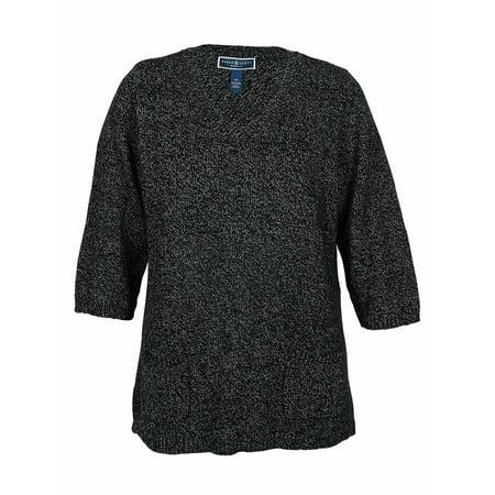 Marled Tunic Sweater (Karen Scott Women's V-Neck Marled Tunic Sweater)