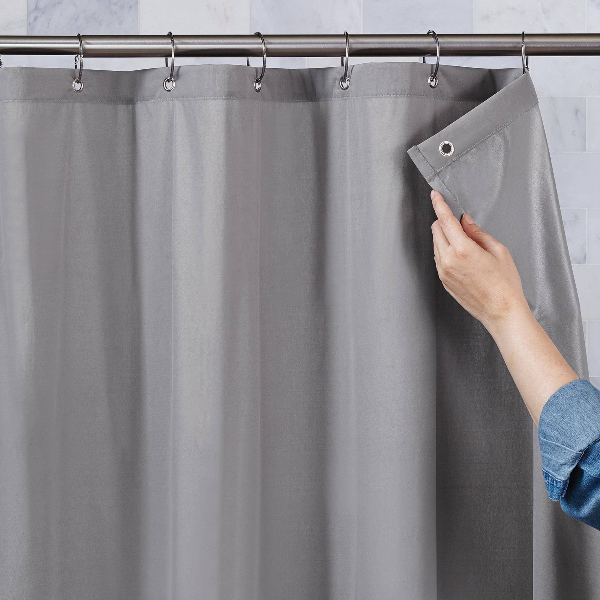 Better Homes And Gardens Shower Ultimate Shield 100 Percent Waterproof  Fabric Shower Curtain Liner