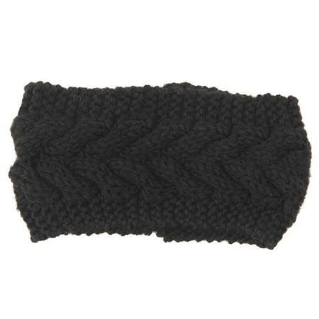 Women's Knitted Ear Warmer Flower Headband Crochet Turban Winter Hair - Flower Crochet Headband