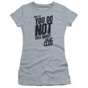 Fight Club Rule 1 Short Sleeve Shirt Juniors Sheer