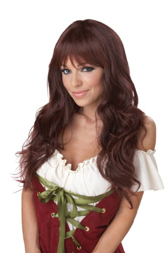 California Costumes Women'S Eye Candy - Coquette Wig, Brunette, One Size