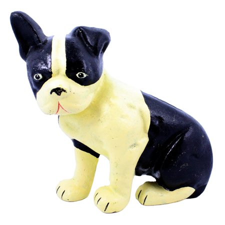 Lonnie the Boston Terrier Cast Iron Doorstop