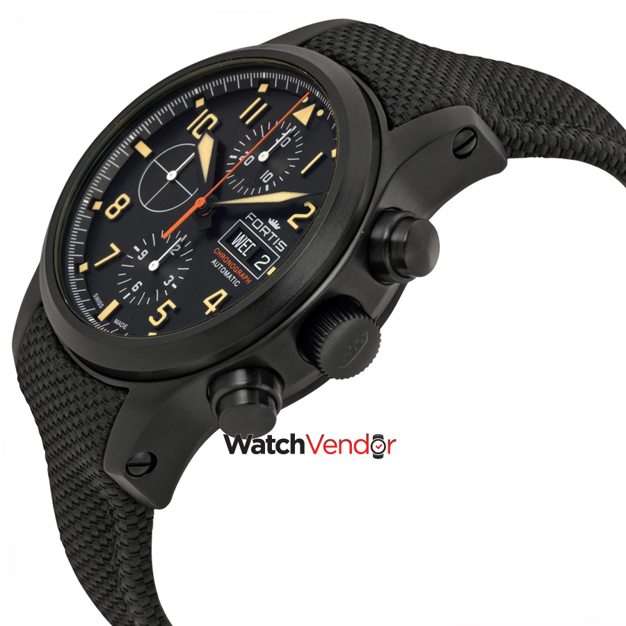 Fortis Aviatis Aeromaster Stealth Chronograph Automatic Men's Watch 656.18.18 LP - image 1 of 3