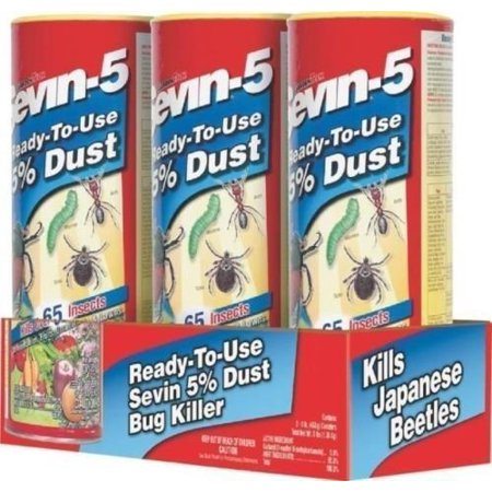 New Sevin 100517556  3Pk  Shaker Sevin 7 Garden Dust 5  3Lbs Bug Killer 2653442  Garden 7 Dust 5   3  1Lb Shaker Cans Factory Sealed New Great    By Generic