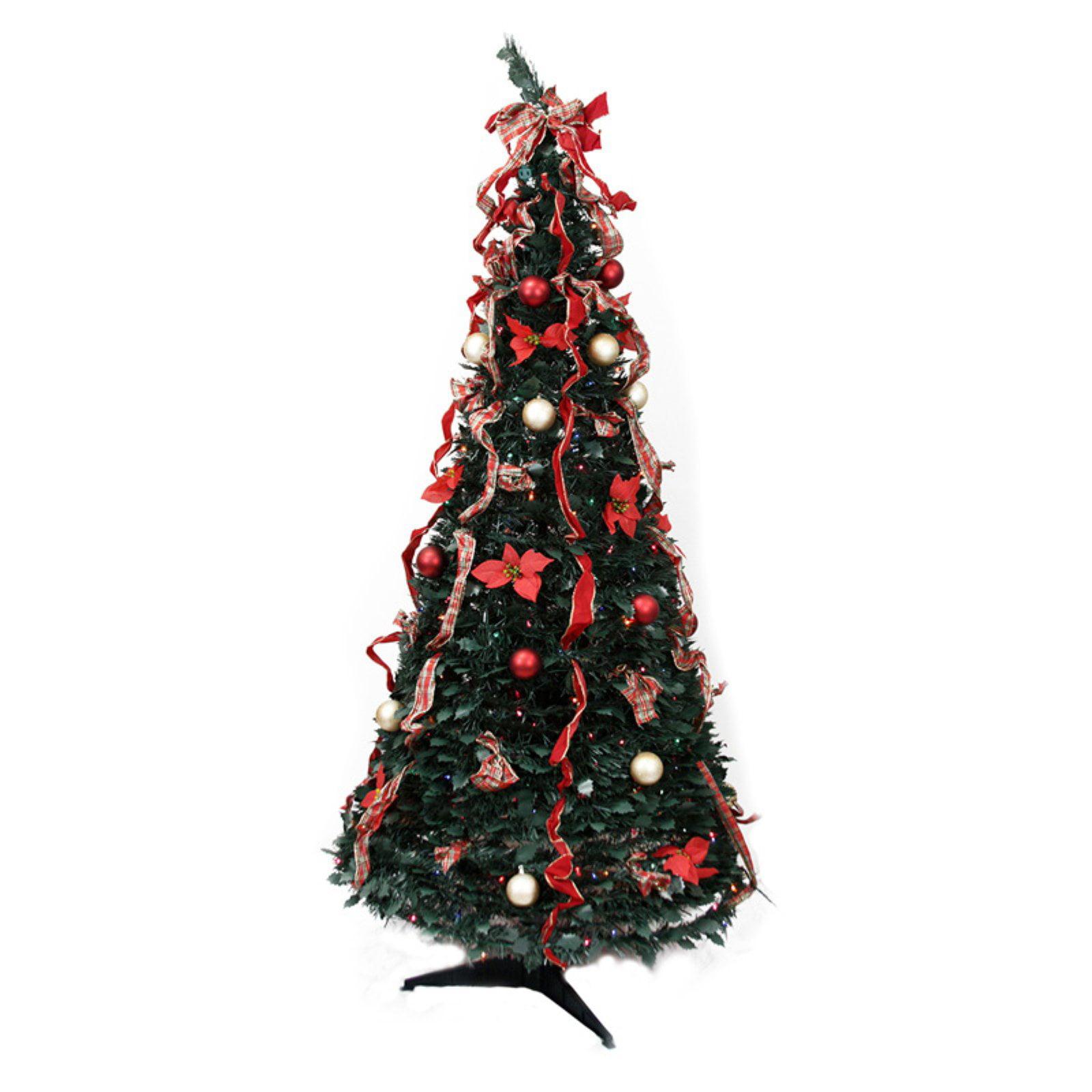 Northlight 6 Ft Pre Lit Decorated Pop Up Christmas Tree Walmart Com