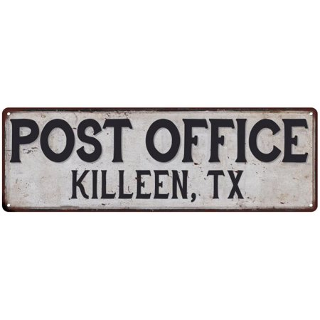 Killeen, Tx Post Office Personalized Metal Sign Vintage 8x24 108240011176
