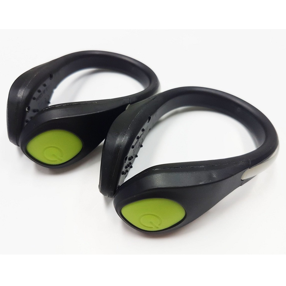 Professional Safe Night Visibility LED Shoe Attatchable Glow In Dark Light Clip - Green