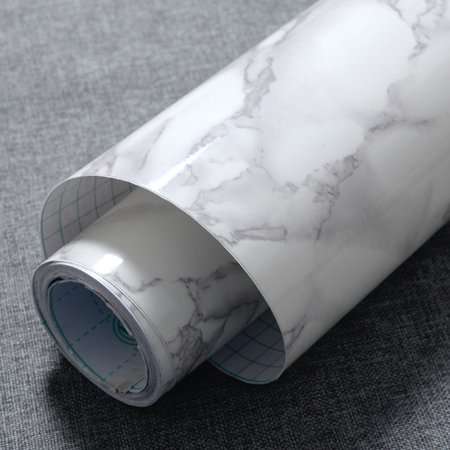 - Self Adhesive Wallpaper,Asewin PVC Marble Effect Removable Contact Wallpaper Self Adhesive Peel Stick Rolling Paper Home Studio Decoration Wall Stickers