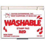 "Center Enterprises Washable Stamp Pad, 2.25"" x 3.75"", Multiple Colors"