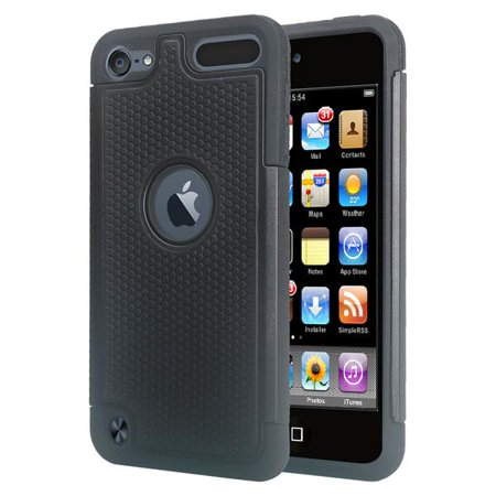iPod Touch 5 Case,iPod Touch 6 Case,Heavy Duty High Impact Armor Case Cover Protective Case for Apple iPod touch 5 6th Generation Black - image 3 of 4