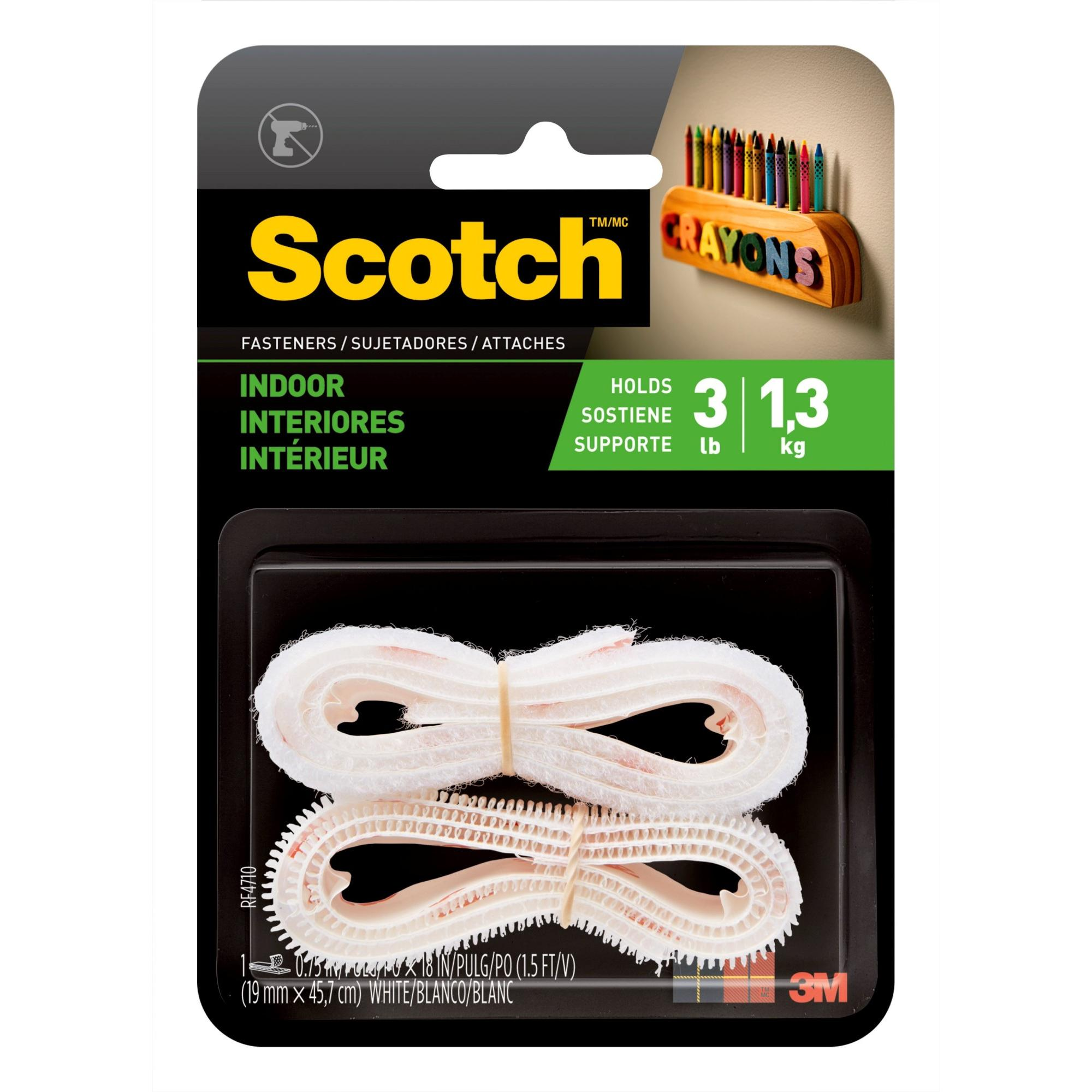 Scotch Indoor Fasteners, 3/4 in. x 15 ft., Black, 1 Sets/Pack