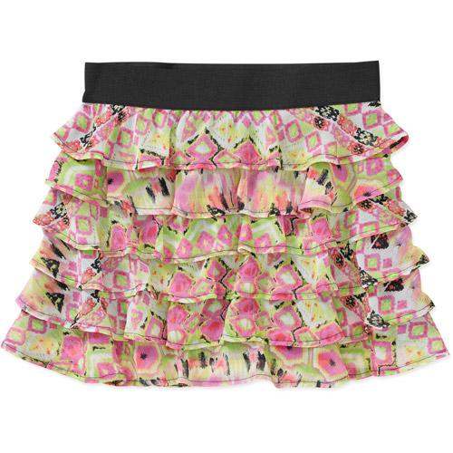 Susie Rose Juniors Tier Ruffled Skirt