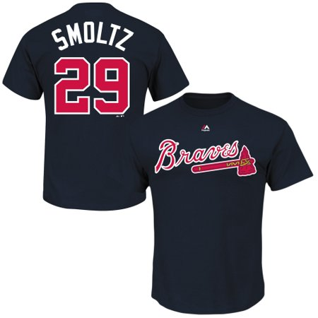 John Smoltz Atlanta Braves MLB Majestic Cooperstown Player Navy