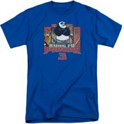 Kung Fu Panda Kung Furry Mens Big and Tall Shirt