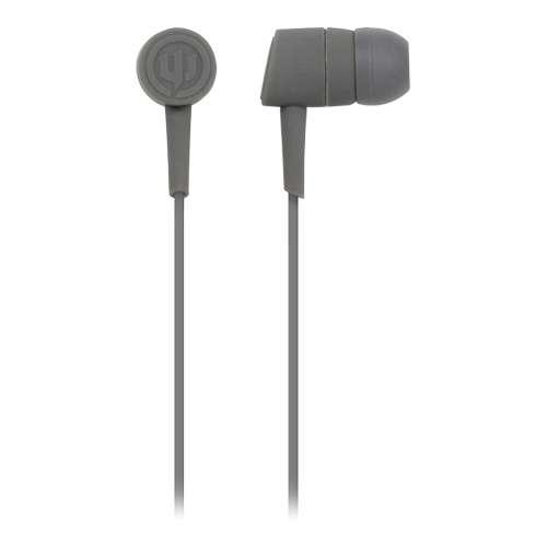 Wicked Audio WI-2201 Mojo Headphones - 10mm Drivers, Gold Plated Plug,  4ft Cord, Dark Gray