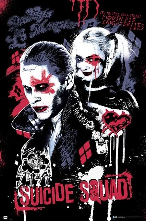 Puddin Poster Art Print Colored Pencil Drawing Suicide Squad Digital Art Print Matte Paper Print Joker Digital Art Print