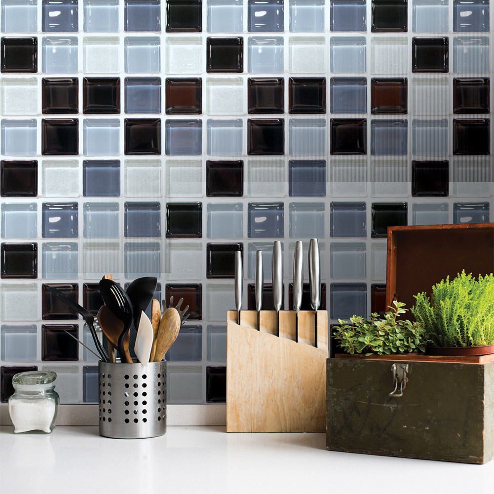 Tile Stickers Tile Picture Mosaic Tile structure Grey Sticker Bathroom Toilet Kitchen