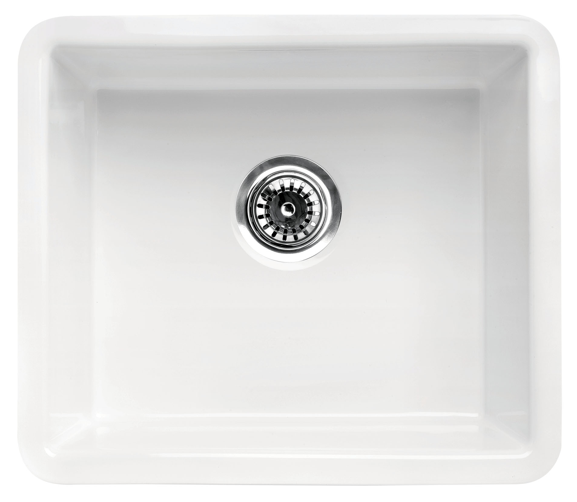 Alfi Brand Ab2017 20 White Single Bowl Fireclay Undermount Kitchen Sink Walmart Com Walmart Com