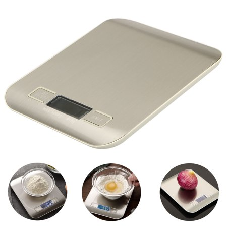 Digital Kitchen Scale Multifunction Meat Food Scale with LCD Display for Baking Kitchen Cooking, 11lb Capacity by 0.1oz, 2 x AAA Battery