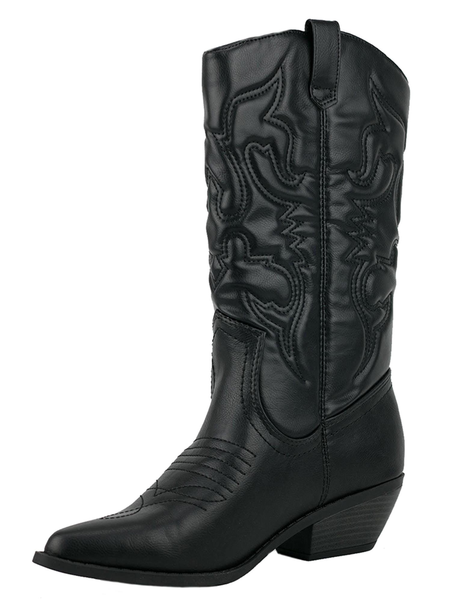 Reno Black Soda Cowboy Western Stitched