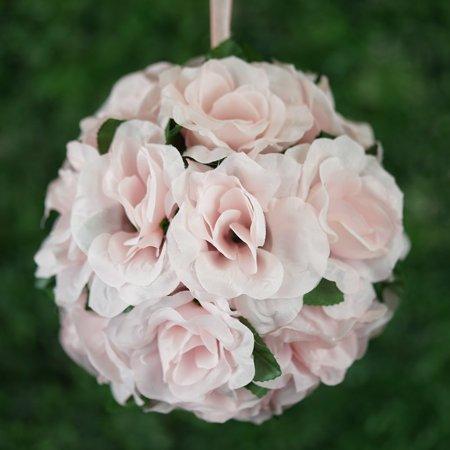 Efavormart 4 Pcs Rose Pomander Silk Flower Balls For Diy Wedding