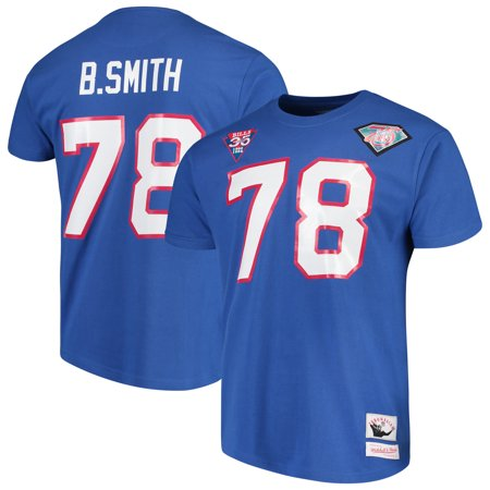 Bruce Smith Buffalo Bills Mitchell & Ness Retired Player Name & Number T-Shirt - Royal Bruce Smith Signed Bills
