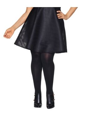 Hanes Womens Plus Size Curves Blackout Tights Style-HSP003