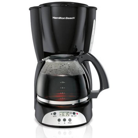 Hamilton Beach 12 Cup Programmable Coffee Maker | Model# 49465R (One Cup Filter Coffee Maker)